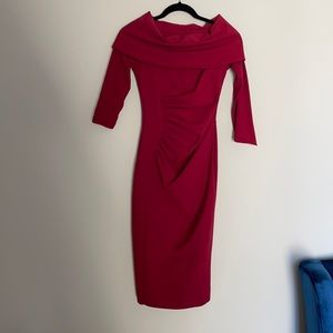 chiara boni la petite robe dress burgundy red 40